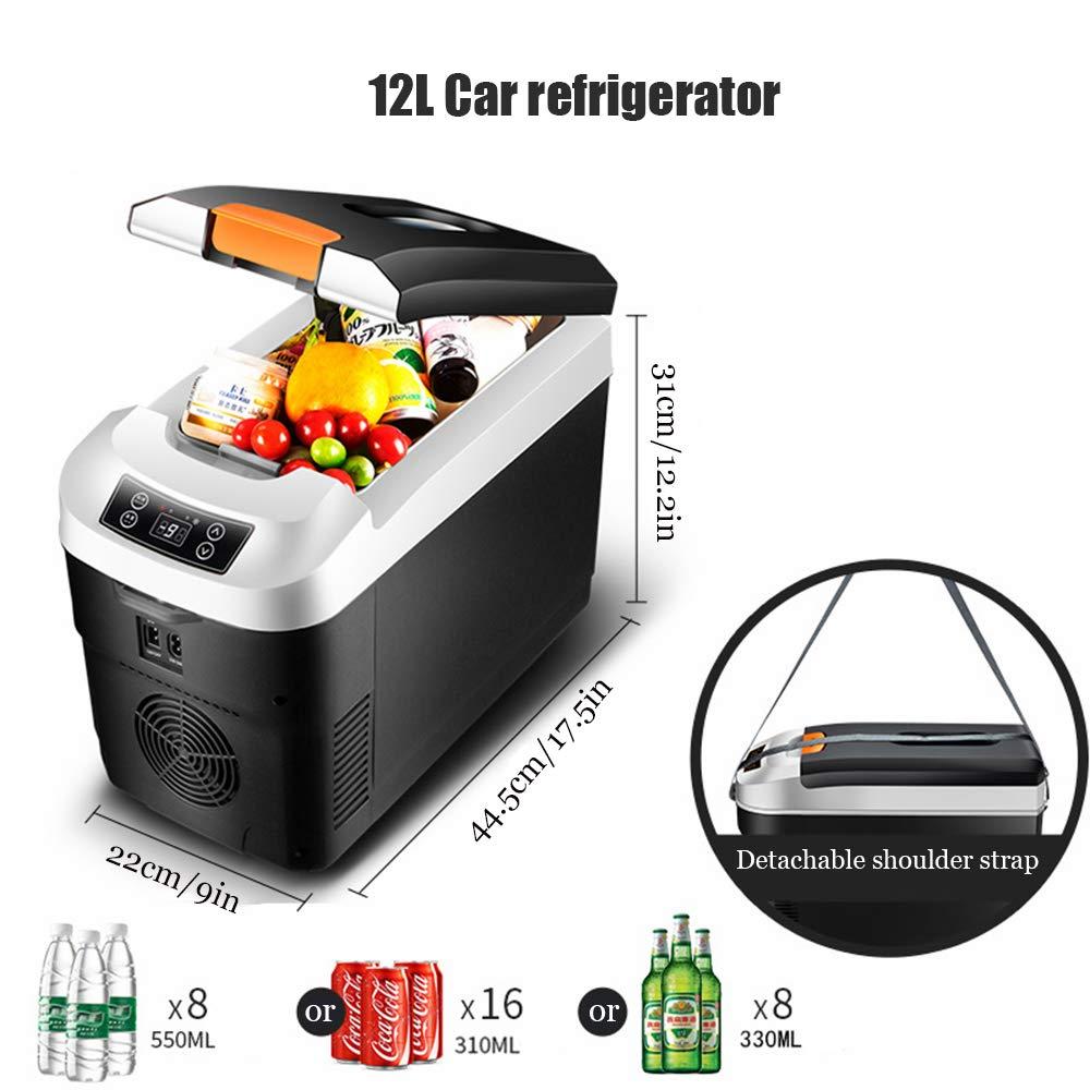 LKW Und Steckdose 12V/&220V Saturey Thermo-Elektrische K/ühlbox Auto Camping Outdoor,12L Mini-K/ühlschrank F/ür Auto