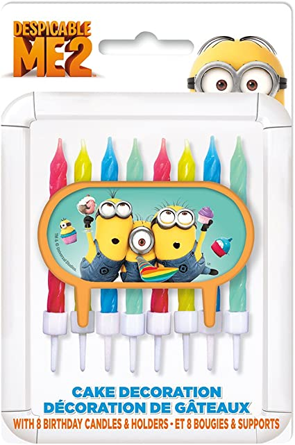 Tremendous Amazon Com Despicable Me Minions Cake Topper Birthday Candle Funny Birthday Cards Online Inifofree Goldxyz