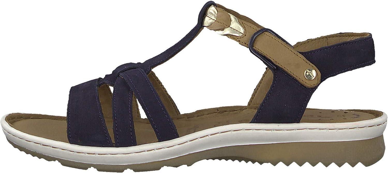 Tamaris 1-1-28603-22 Femme Sandale à lanières,Sandales,Sandales à lanières,Chaussures d\'été,Confortable,Plat,Touch-IT Navy Comb
