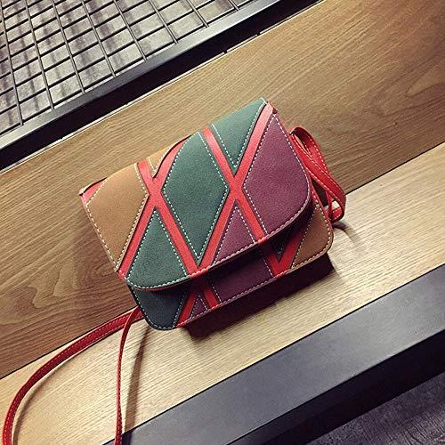 Donna Tracolla Bag A Borsa C Casual Zmyz Pu Borsa Patchwork Mini Messenger Moda EqSOnwXRT