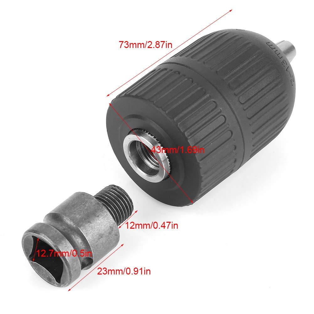 1//2-20UNF mit 1//2 -Futteradapter 2-13 mm schl/üsselloses Bohrfutter Bohrfutter f/ür Schlagschrauberumbau