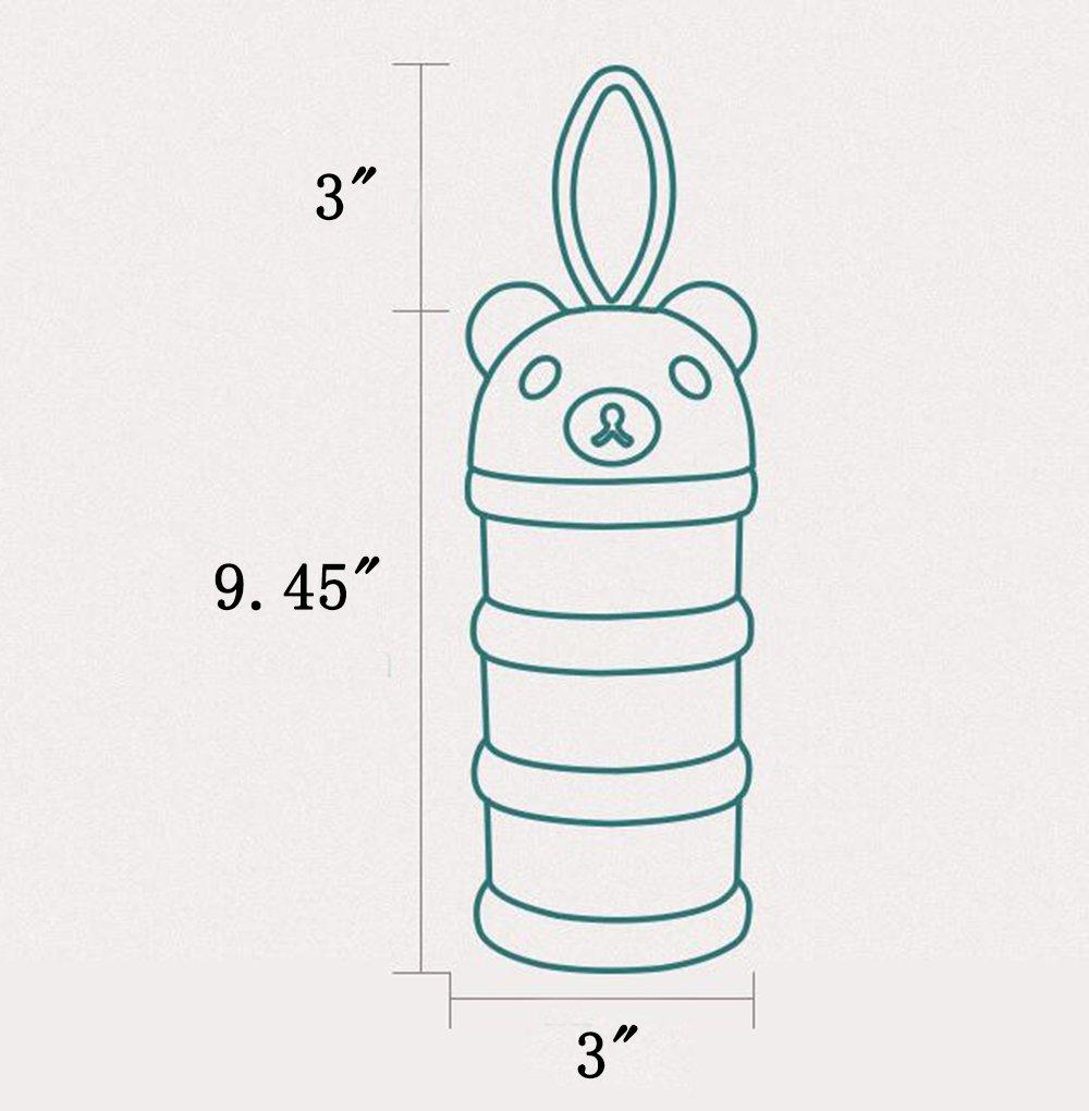 Blau kein Puder-Durchsickern 3 Zufuhren drei Gitter-Beh/älter f/ür Baby-F/ütterungsversorgungen // Snacks // S/ü/ßigkeit // mit tragbarer Riemen S/äuglingsmilchpulver-Zufuhr