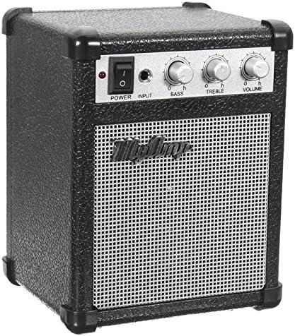 BASDW Amplificador de 4 micrófonos de 4 pulgadas con amplificador de amplificador de guitarra alimentado por batería y 4 ohmios con USB BASDW