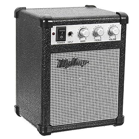 ERCZYO Amplificador de 4 micrófonos de 4 pulgadas con amplificador de amplificador de guitarra alimentado por batería y 4 ohmios con USB ERCZYO: Amazon.es: ...
