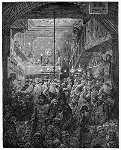 Dore Billingsgate 1872 Nbillingsgate Fish Market In The Early Morning Wood Engraving After Gustave Dore From London A Pilgrimage 1872 Poster Print by (24 x 36) ()