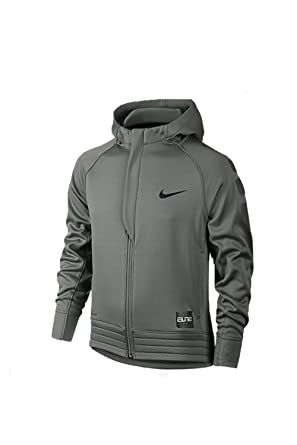 0541596b79f2 NIKE Kids Boy s Elite Stripe Hoodie (Little Kids Big Kids) Tumbled Grey