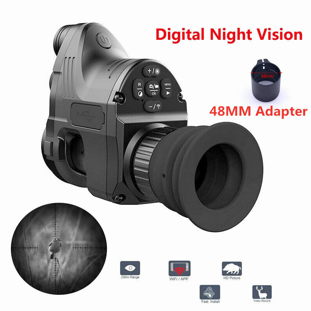 Pard NV007 200M Range Digital Night Vision Scope 1080P HD WiFi Optical 5W IR Infrared Night Vision Riflescope with 42MM Adapter