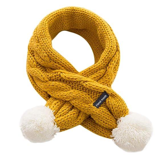 ... Bebé Recién Nacido de Bola de Pelo Tejido Punto Cruz Cuello Collar  Bufandas puro Algodón Suave Babero para Chicas Chicos  Amazon.es  Ropa y  accesorios e930c32ca7c