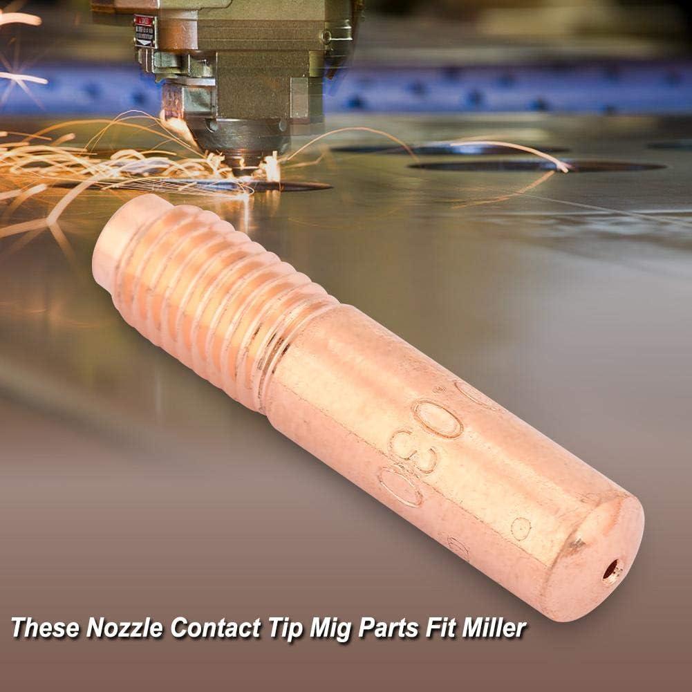 Akozon 14pcs Welding Set Nozzle Contact Tip Mig Parts Fit Miller 2pcs169715+2pcs196716-10pcs000067