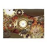 CafePress - Steampunk, Awesome Steampunk Design - Decorative Area Rug, 5'x7' Throw Rug