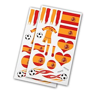 Ndier 5 Hojas 2018 Copa del Mundo España País etiqueta de tatuaje ...