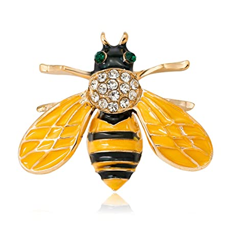 d6574add1 JAGETRADE Bee Insect Brooch Pins Jewelry Women Rhinestone Gifts ...
