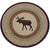 Earth Rugs RP-019 Moose Printed Rug, 27, Burgundy/Mustard