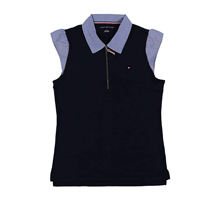 Amazon.com: Tommy Hilfiger - Polo con cremallera frontal ...