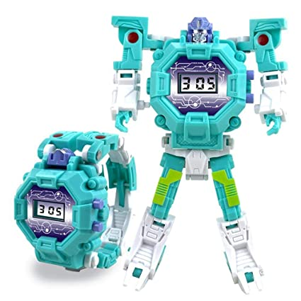 Amazon.com: Womdee Robot Watch Toys, 2-in-1 Deformation Robot Toys Electric Watch Creative Educational Learning Toys for Boys and Girls, Green: Toys & Games