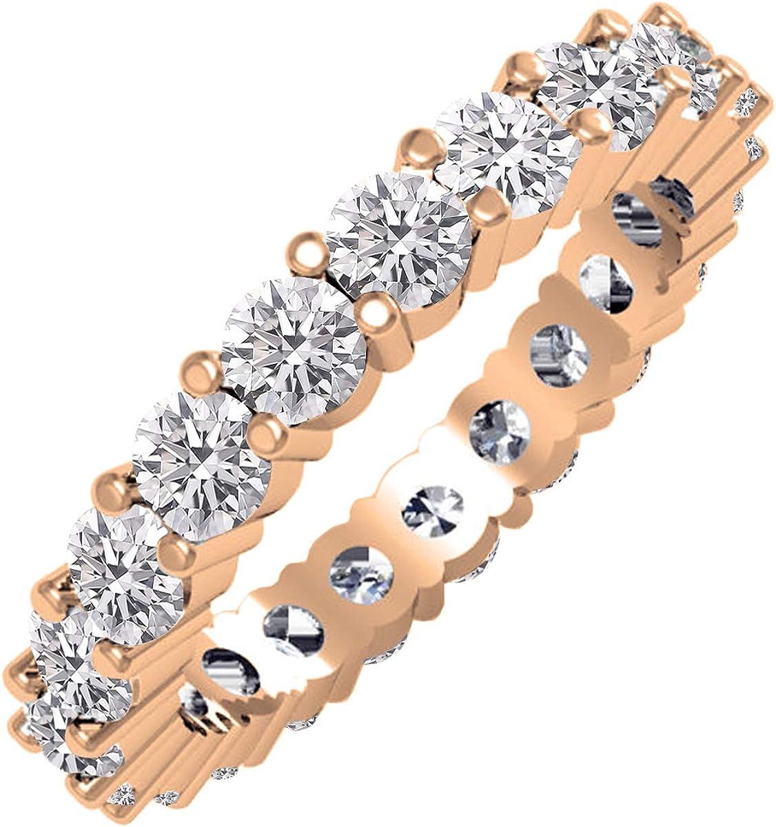 Dazzlingrock Collection 2.10 Carat (ctw) 10K Gold Round Lab Grown Diamond Ladies Eternity Stackable Wedding Band