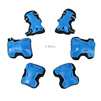 E2shop Sports Protective Gear Safety Pad Gear Set Safeguard Kids Elbow Pads Kids Elbow Knee Pads with Wrist Guards for Multi-Rollerblade Roller Skates Cycling Bike Skateboard Inline Skatings Scooter