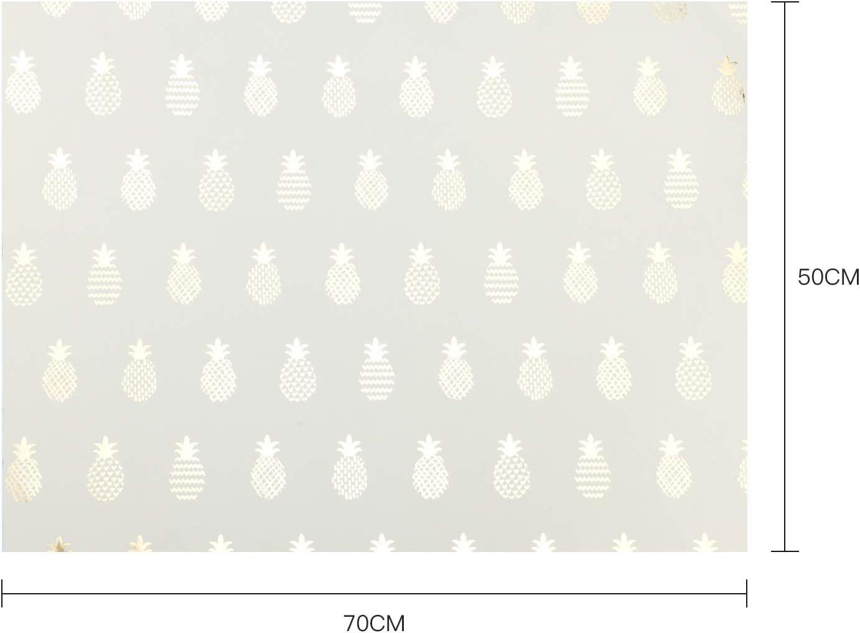 Regali Per La Festa Della Mamma Pasqua Vacanze Baby Shower RUSPEPA Set Di Fogli Di Carta Da Regalo Esclusivo Design Di Ananas In Lamina DOro Per Compleanno Matrimonio Festa