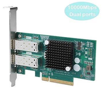 Tosuny PCI-E 8X SFP Dual 10G Tarjeta de Adaptador de Red ...