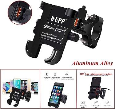 Gfyee - Soporte de móvil para Bicicleta con Cargador USB QC 3.0 ...