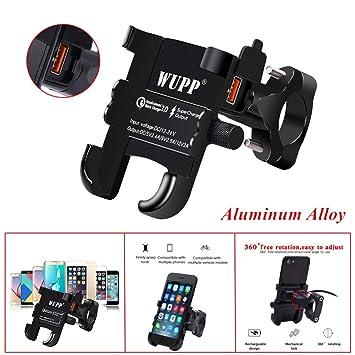 Gfyee - Soporte de móvil para Bicicleta con Cargador USB QC ...