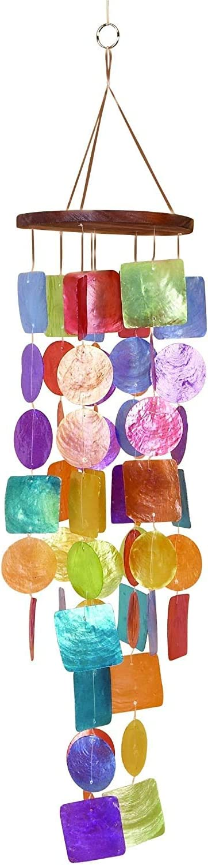 Campanas de Viento Artesanal (Arcoíris)