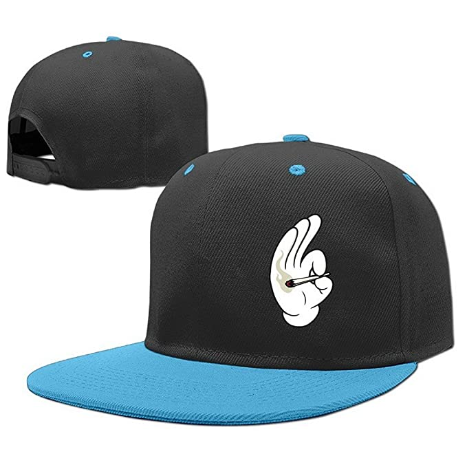 01e68c1b27e Image Unavailable. Image not available for. Color  Unoopler Hand Gesture Kids  Fashion Hip Hop Baseball Cap Flat Adjustable Snapback Hats ...