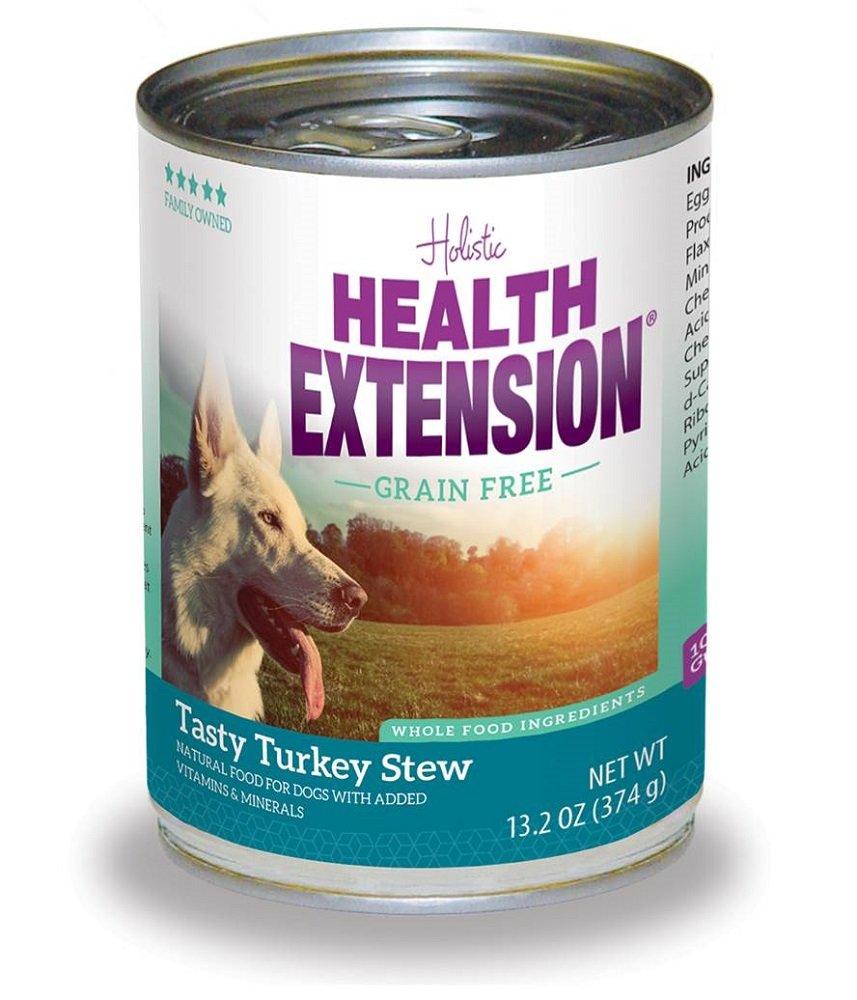 Health Extension Turkey Stew Grain Free Wet Dog Food (1 Pack), 12/13.2 oz/One Size