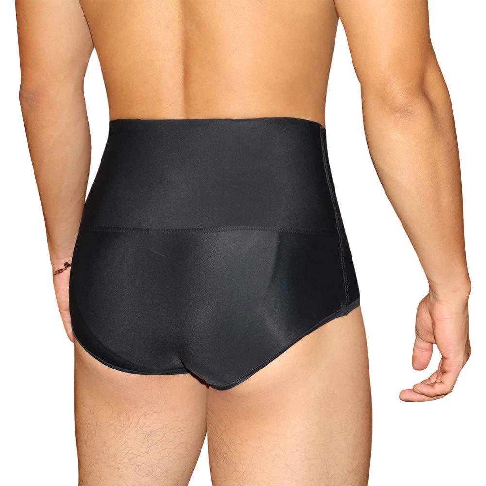 TOPMELON Mens Abdomen Compression Panties Shaper Briefs Mid Waist Firm Control Underwear Body Slimmer Shapewear
