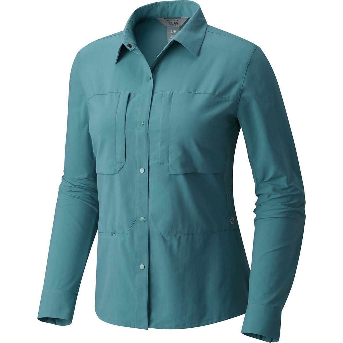 Mountain Hardwear SHIRT レディース B079RS42NC Large|Lakeshore Blue Lakeshore Blue Large