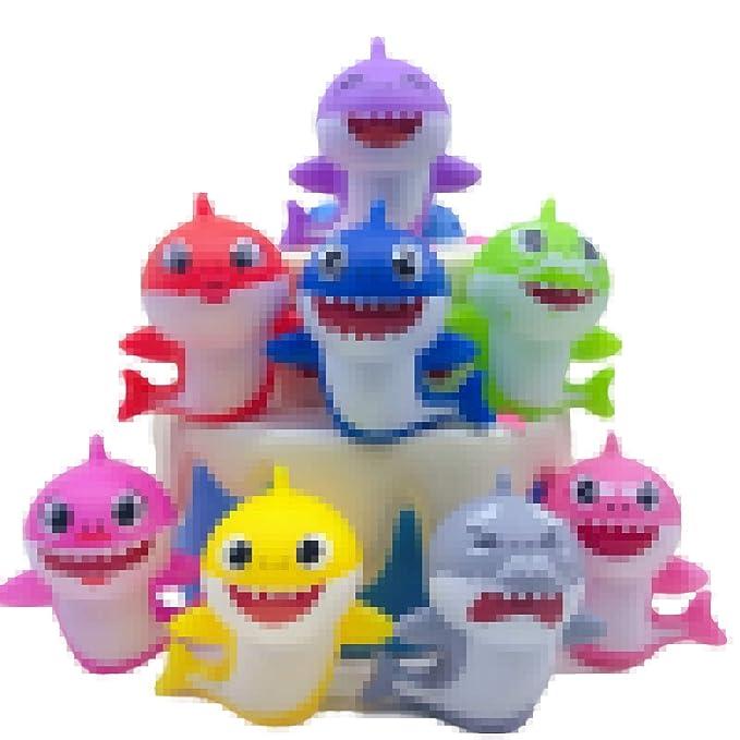 8 adornos para cupcakes (8 colores), diseño de tiburón para ...