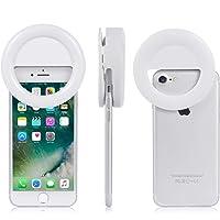Sundix LED Selfie Ring Light for Smartphones,Clip-on (White)