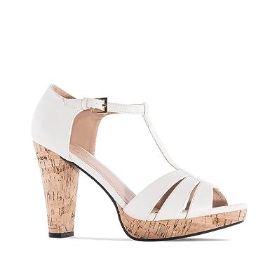 am5242 Femmes Andres Machado Soft Liège pour petites Talons sandales Jcl1FK