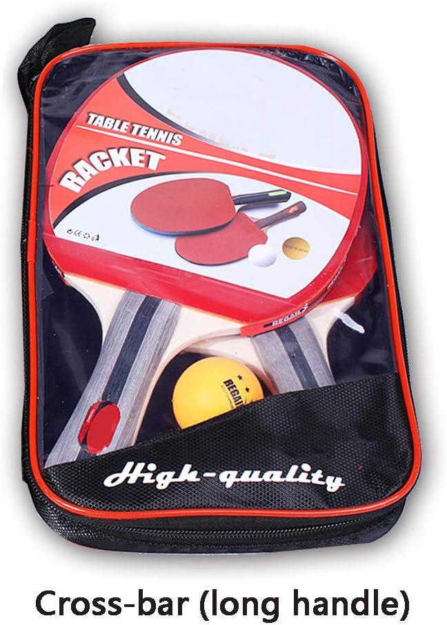 Mesa de ping pong ping-pong, Profesional de ping-pong de la raqueta conjunto de paletas con 2 murciélagos y 3 bolas en bolsa de transporte, para adultos de los niños 2 Reproductor de conjunto,B