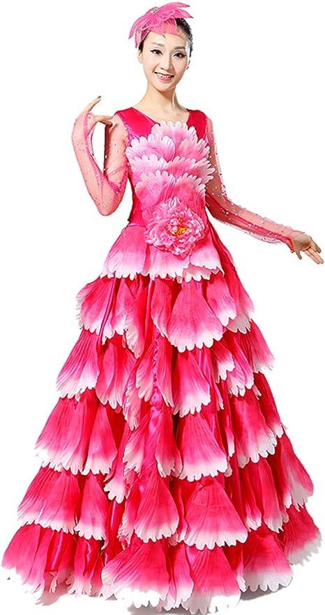 ZYLL Falda Flamenca, De Las Mujeres Vientre Danza Gasa Falda Toreo ...