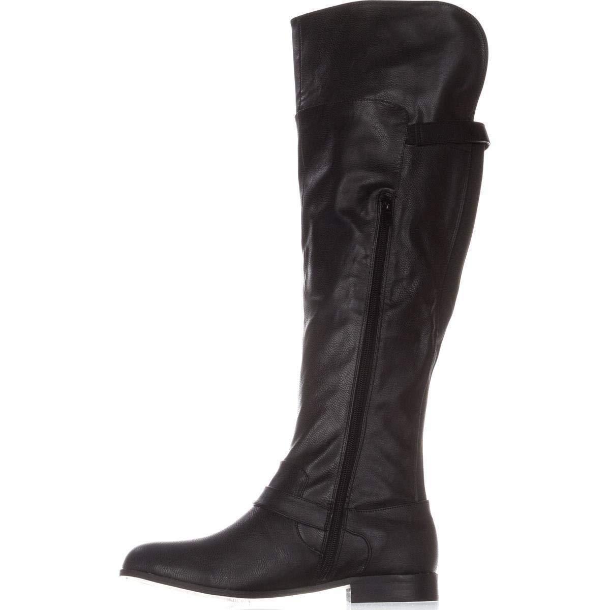 66481dfa52efe Bar III Womens Daphne Closed Toe Knee High Fashion Boots, Black ...