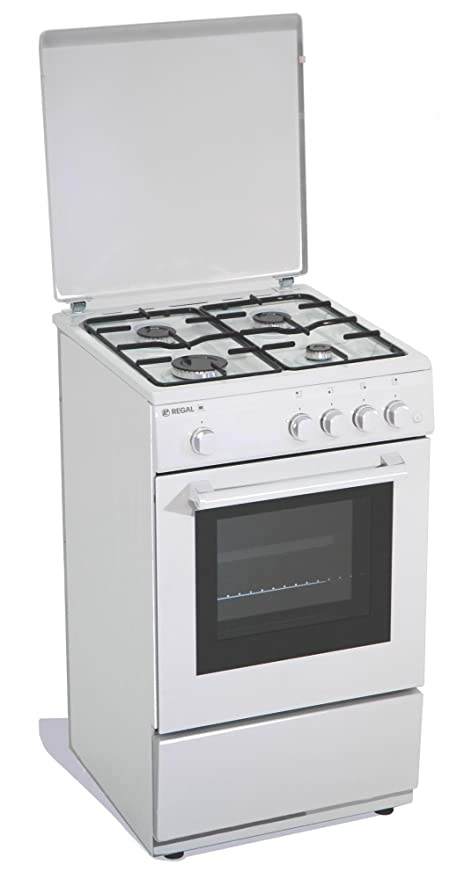 Cucina a gas 50x50x85 cm 4 fuochi con forno a gas: Amazon.it ...