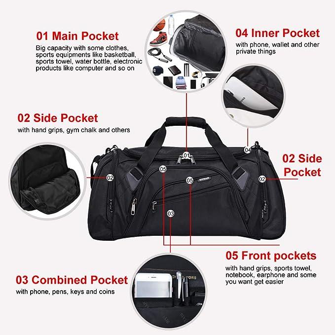 30ac752d3916 Amazon.com  SIYUAN Sports Duffel Bag