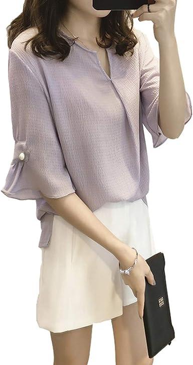 Blusas Blusas - Blusa Suelta de Verano para Mujer, Color ...