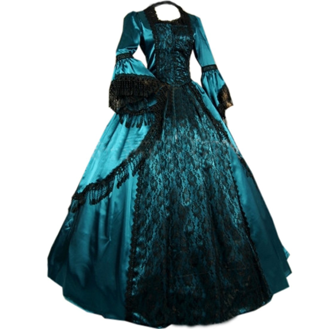 Amazon.com: Pevor Womens Gothic Victorian Fancy Dresses Ball Gown ...