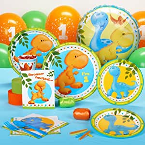 Little Dino 1st Birthday Standard Party Pack for 16