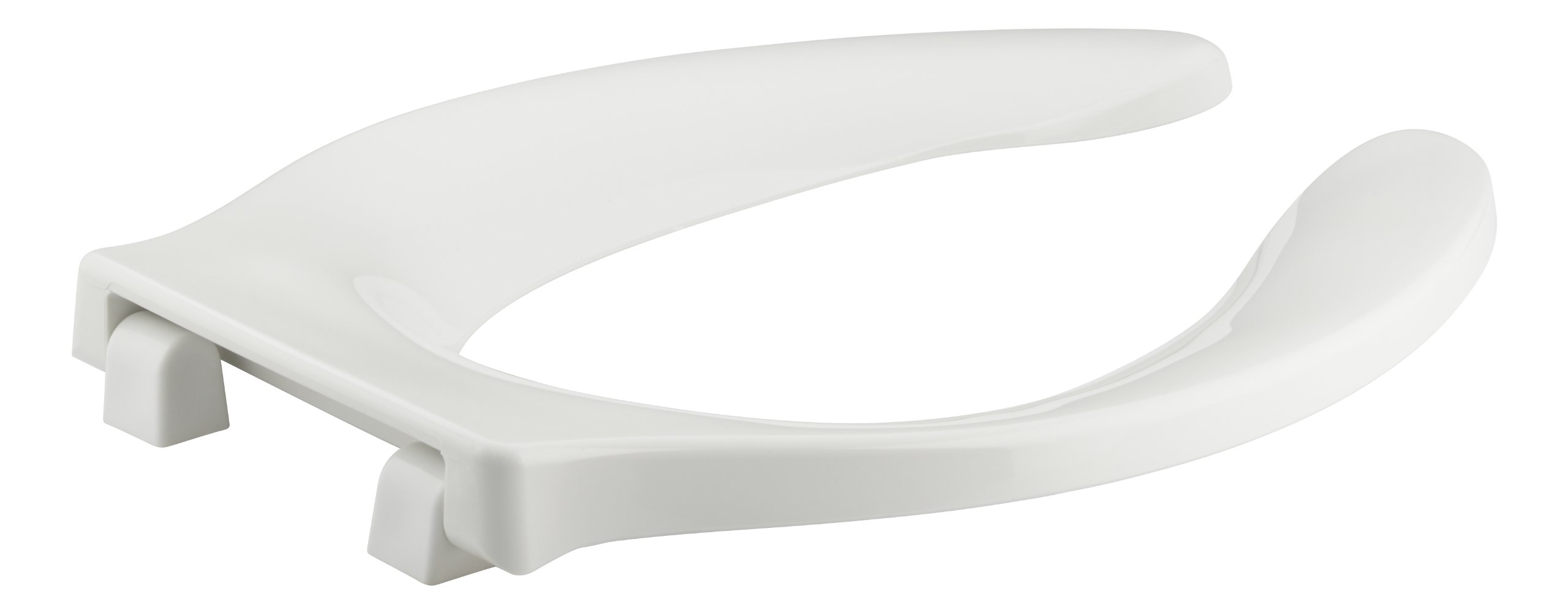 KOHLER K-4731-SA-0 Stronghold Elongated Toilet Seat with Stainless Steel Check Hinge and Antimicrobial Agent, White