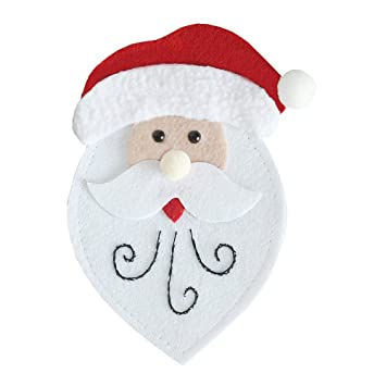 ounona Navidad Vajilla escritorio Cubiertos bolsillos Cuchillo y Tenedor almacenar bolsillos caso para casa cocina Navidad Fiesta Boda Desktop Decoración ...