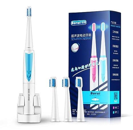 Cepillos de dientes eléctricos Dientes recargables limpios como un dentista Impermeable 3 cabezas de repuesto Cepillo