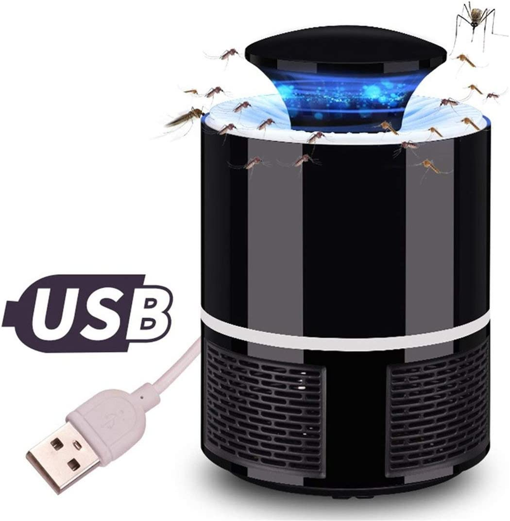 zhouweiwei USB Radiaci/ón sin Mosquitos electr/ónico L/ámpara de luz para Matar Mosquitos Uso dom/éstico LED USB Mosquito Trap Bug Insect Zapper Light