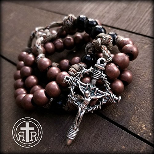 Copper Paracord Military Rosary - Rattlesnake Camo Rosary