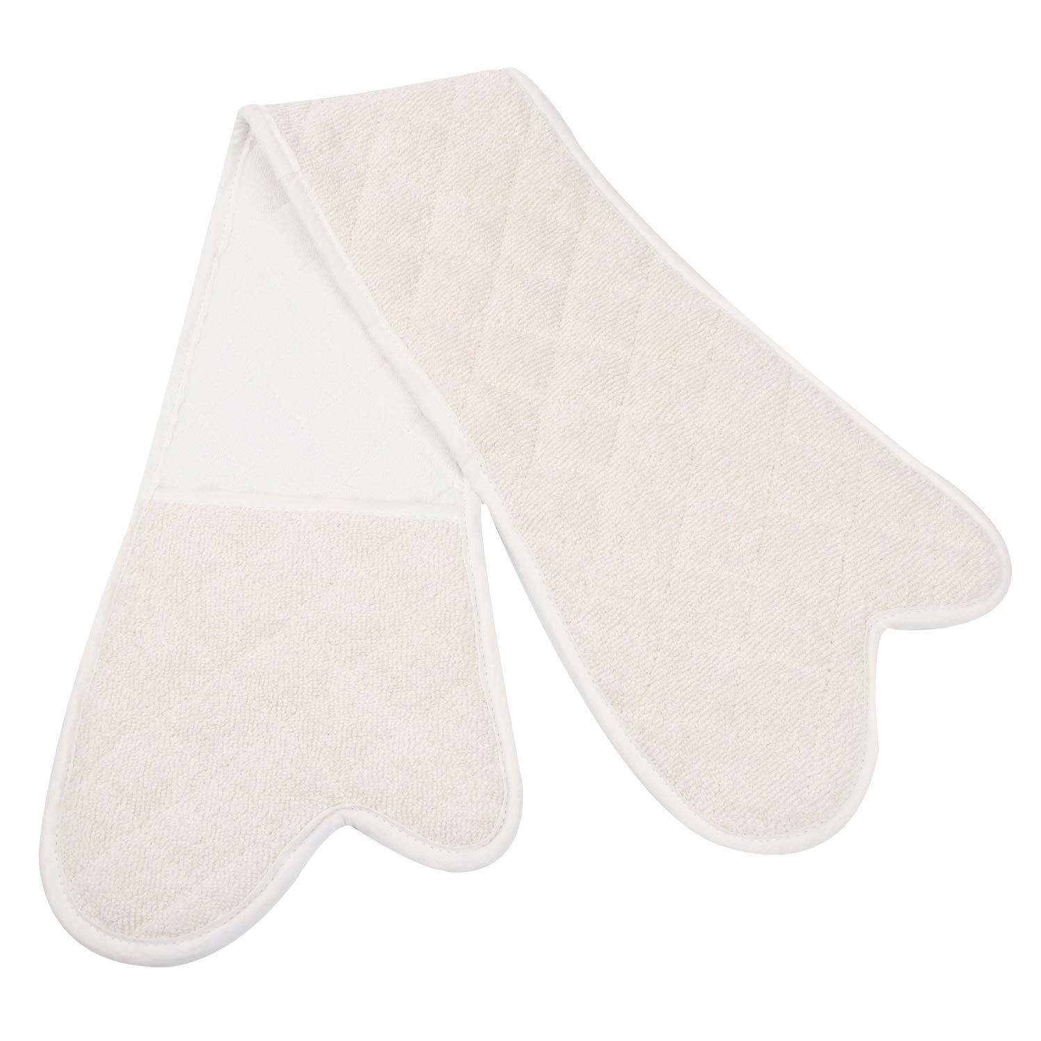 Cimostar Double Oven Gloves/Mitt,Extra Long Cotton Potholder Gloves,Heat Resistant Baking Glove,Machine Washable 35 x 7.5
