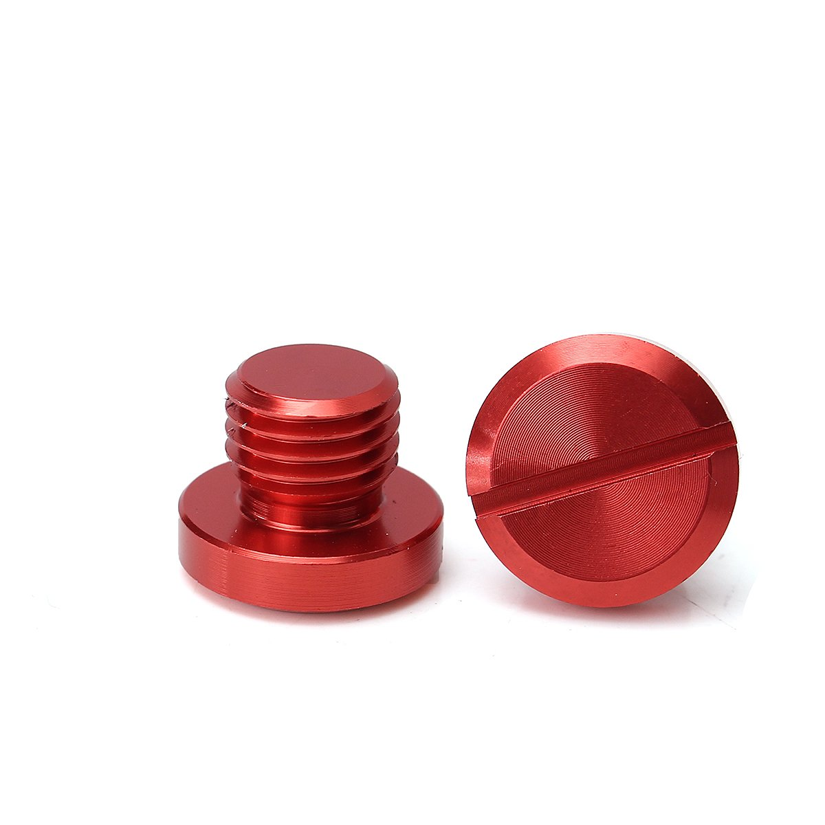 Red Viviance M10X1.25 Mirror Hole Plug Screw For Honda//Yamaha//Suzuki//Kawasaki