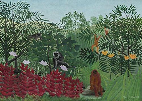 - Henri Rousseau: Tropical Forest with Monkeys. Fine Art Print/Poster. Size A1 (84.1cm x 59.4cm)