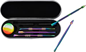 6 Pieces Wax Carving Tool Set Rainbow Stainless Steel Collecting Accessories